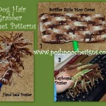 3 Dog Hair Grabber Crochet Patterns by Sara Sach of Posh Pooch Designs