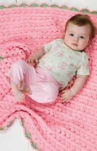 Cuddle & Coo Blanket ~ Red Heart