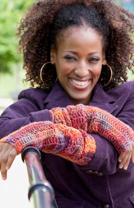 Diva Driving Arm Warmers ~ Red Heart