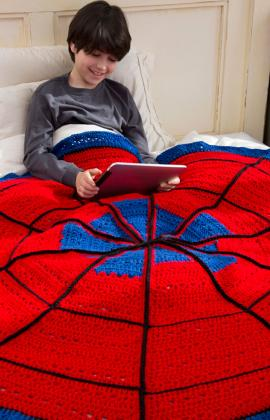 Spider Web Throw by Ellen Gormley for Red Heart
