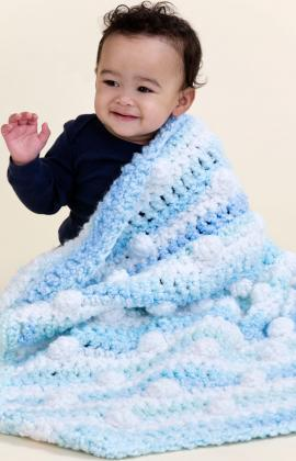 Cuddly Travel Blanket ~ Red Heart
