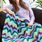 Splendid Ripple Throw ~ Red Heart