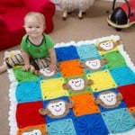 Monkey Around Baby Blanket ~ Michele Wilcox - Red Heart