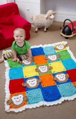 Monkey Around Baby Blanket by Michele Wilcox for Red Heart
