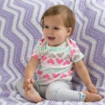 Fuzzy Ripple Baby Blanket ~ Nancy Nehring – Red Heart