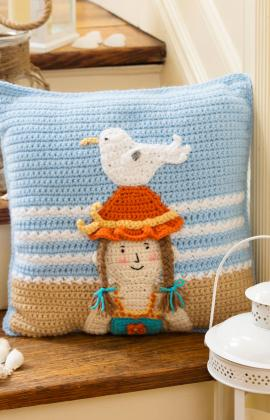 By the Sea Pillow by Michele Wilcox for Red Heart