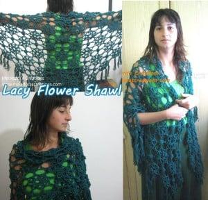 Lacy Flower Shawl ~ Meladora's Creations