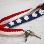 Crochet Stars and Stripes Lanyard ~ Repeat Crafter Me