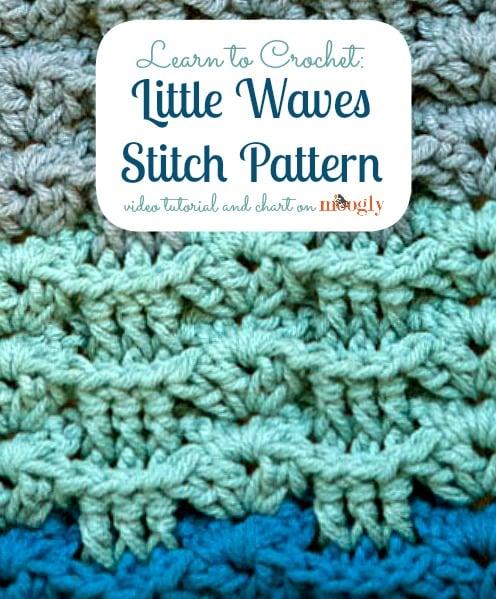 Crochet Stitches On Moogly : Little Waves Stitch Pattern ~ Moogly - Crochet Pattern Bonanza