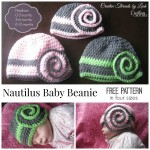 Nautilus Baby Beanie by Creative Threads by Leah for Cre8tion Crochet