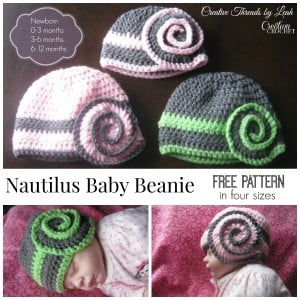Nautilus Baby Beanie ~ Cre8tion Crochet