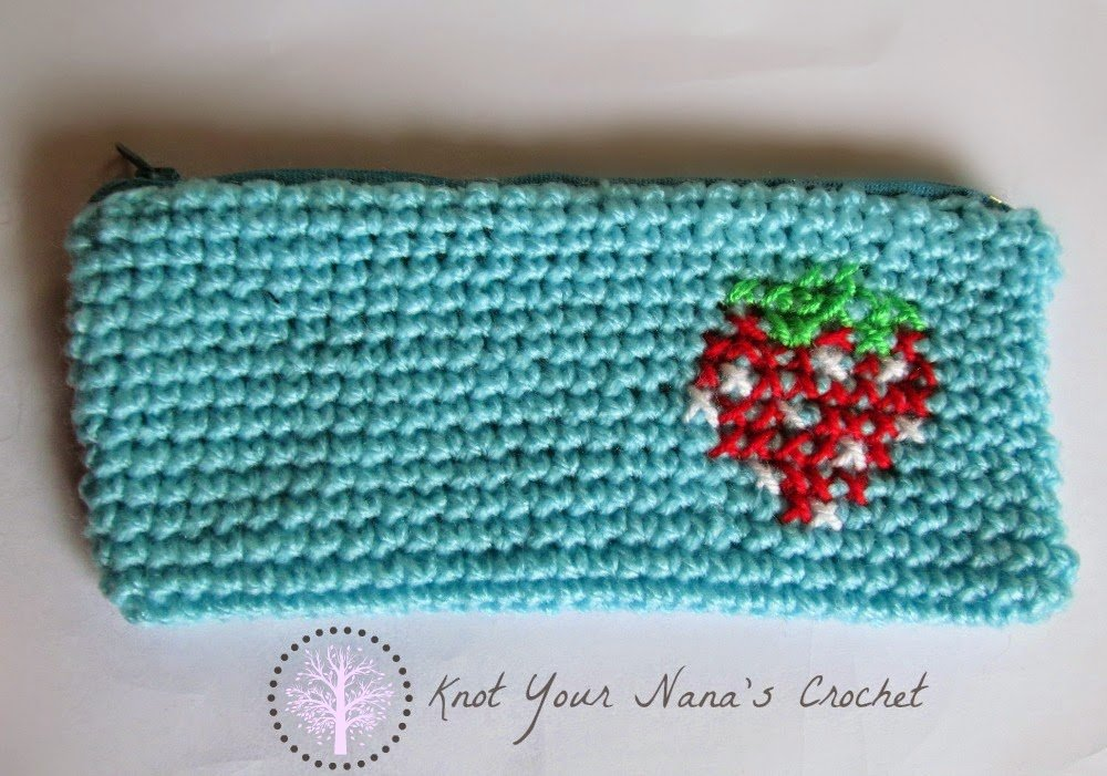 Easy Peasy Pencil Case by Knot Your Nana's Crochet