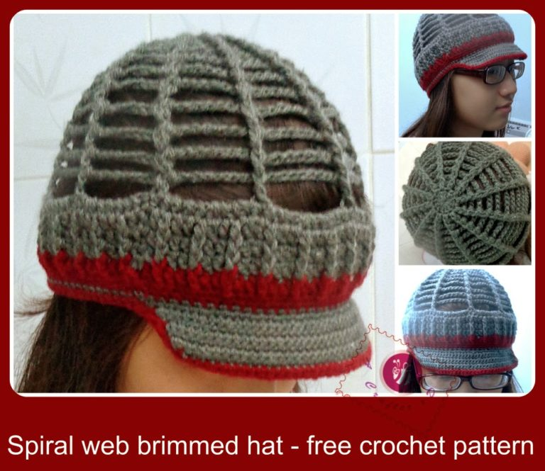 Spiral Web Brimmed Hat by Be A Crafter xD