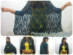 Pineapple Lace Crochet Shawl ~ Meladora's Creations