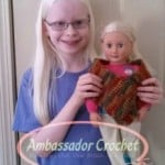 "18"" Doll Shawl ~ Ambassador Crochet"