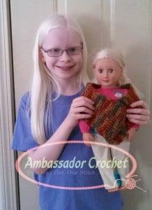 """18"""" Doll Shawl by Ambassador Crochet"""