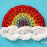 Crochet Rainbow Applique ~ Repeat Crafter Me