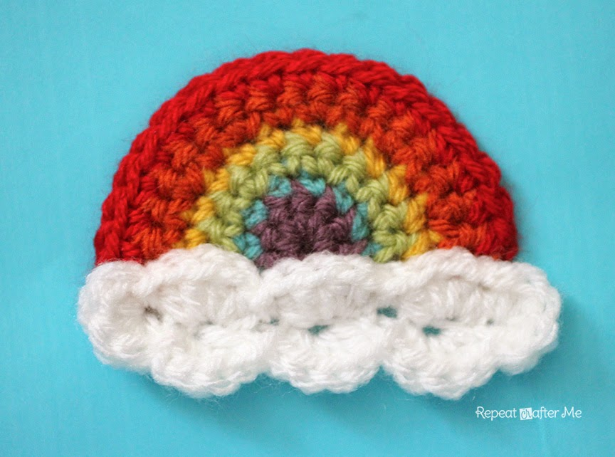 Crochet Rainbow Applique by Repeat Crafter Me