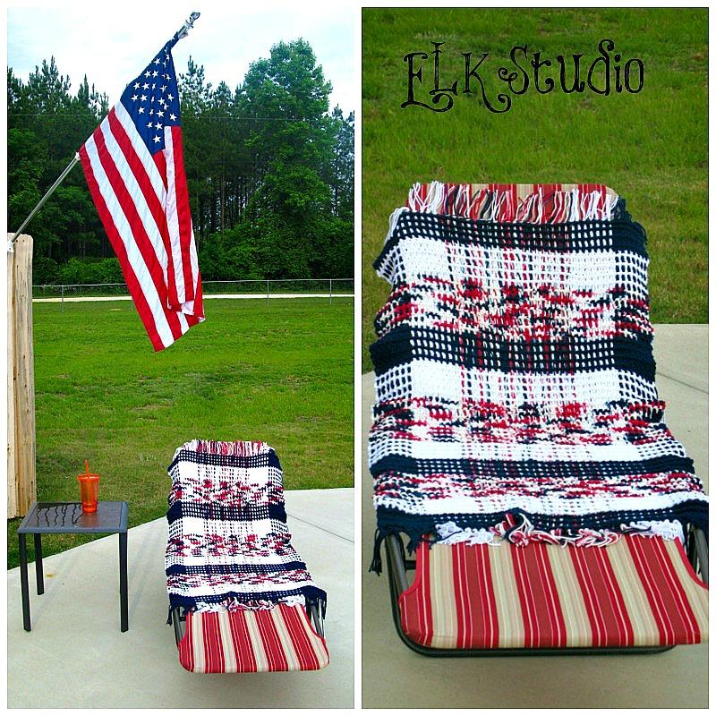 Rockin' Summer Crochet Beach Towel - Kathy Lashley - Elk Studio