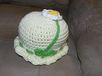 Infant Hat with Flower ~ Jeanne Stewart - Yarnjeannie's Crochet Cache
