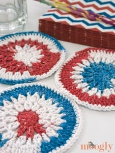Stars and Stripes and Clusters Mini Mandala by Moogly