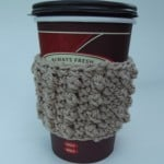 Bead Stitch Cup Sleeve by CrochetN'Crafts