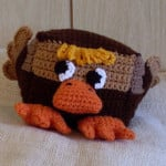 Brown Sugar Blockety Ducky Baby Rattle and Toy ~ Craftybegonia's Funmigurumi and Kid's Stuff