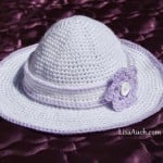 Childs Sunhat with Detachable Flower Headband ~ Lisa Auch - Free Crochet Patterns and Designs