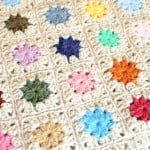 Joining Crochet Squares ... Cluster Burst Afghan ~ Petals to Picots