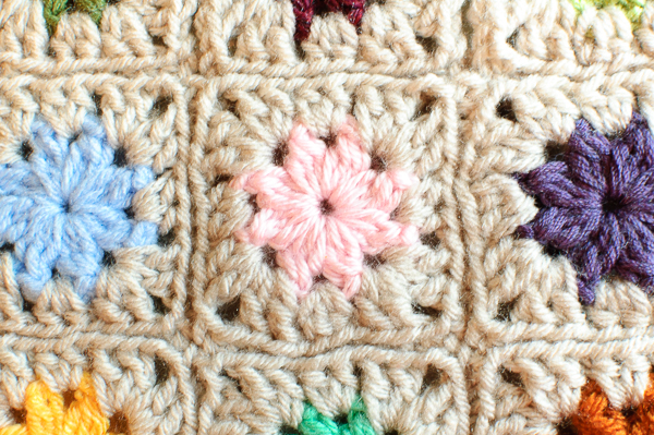 Cluster Burst Granny Square by Petals to Picots