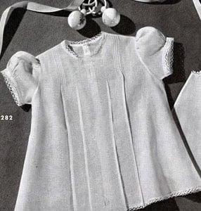 Baby Dress Edging ~ Free Vintage Crochet