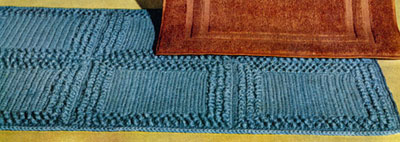 Aqua Rug ~ Free Vintage Crochet