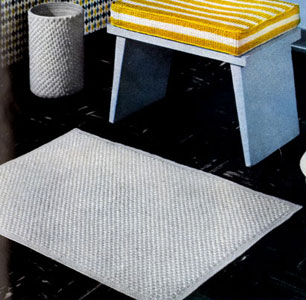 Bath Mat and Scrap Basket Cover by Free Vintage Crochet