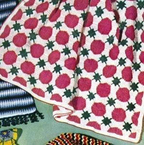 Mardi Gras Afghan by Free Vintage Crochet