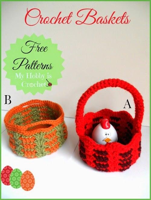 Crochet Baskets by My Hobby is Crochet