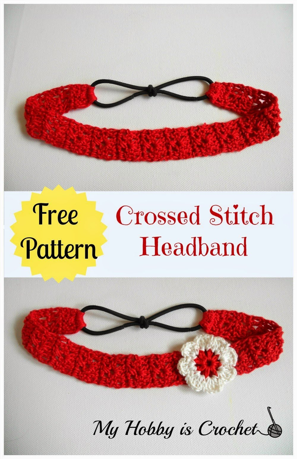 Free Crochet Pattern Headband With Flower : Crossed Stitch Headband ~ FREE Crochet Pattern