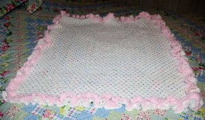 Double Ruffle Granny Baby Afghan by Crochet 'N' More