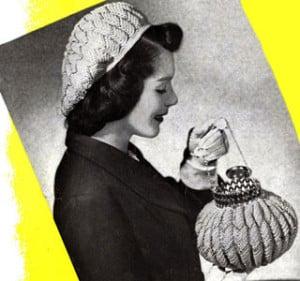 Match Mates Hat and Bag Set ~ Free Vintage Crochet