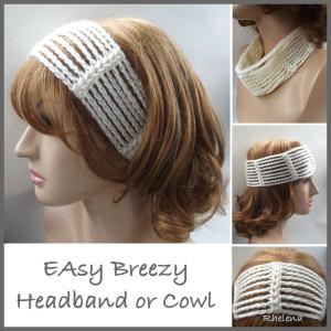 Easy Breezy Headband or Cowl ~ CrochetN'Crafts