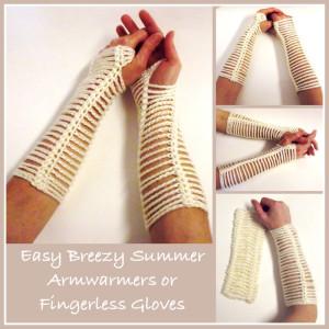 Easy Breezy Armwarmers by CrochetN'Crafts