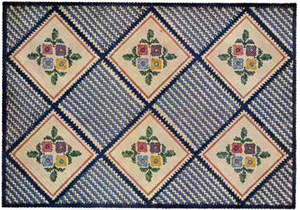 Basket Weave Rug ~ Free Vintage Crochet