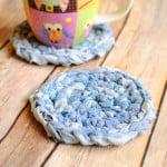 Fabric Crochet Coaster ~ Petals to Picots