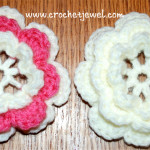 Crochet Layered Flower with Video ~ Amy L. - Crochet Jewel