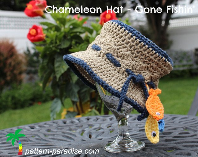Chameleon Hat - Gone Fishing ~ Pattern Paradise