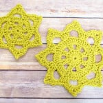 Chunky Crochet Doily in Two Sizes ~ Petals to Picots