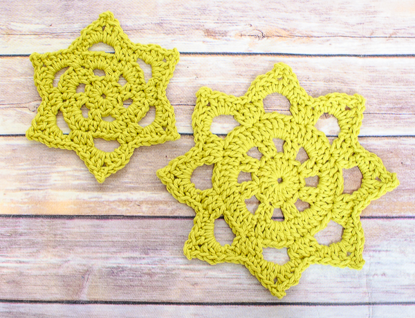 Chunky Crochet Doily in Two Sizes by Petals to Picots