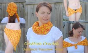 Sunburst Vacation Scarf ~ Cre8tion Crochet