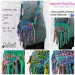Chiffon Ribbon Purse the Watercolor Festival Bag ~ Cre8tion Crochet