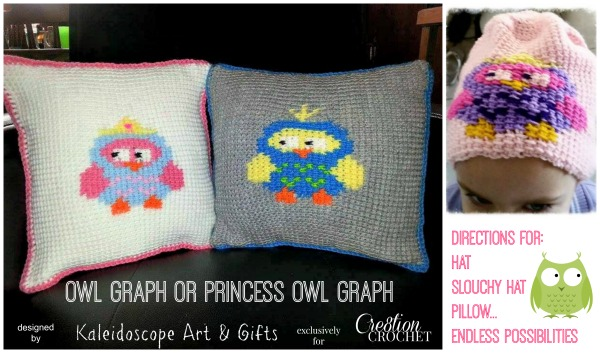 Owl Graph by Kaleidoscope Art & Gifts for Cre8tion Crochet