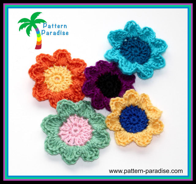 Crochet Flowers ~ Pattern Paradise